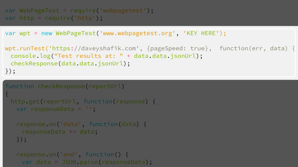 var WebPageTest = require('webpagetest'); var h...