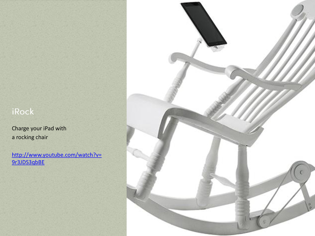 Charge your iPad with a rocking chair http://ww...