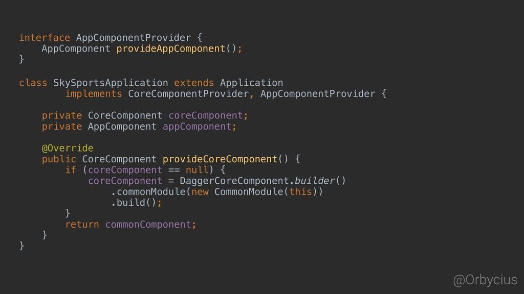 @Orbycius interface AppComponentProvider { AppC...
