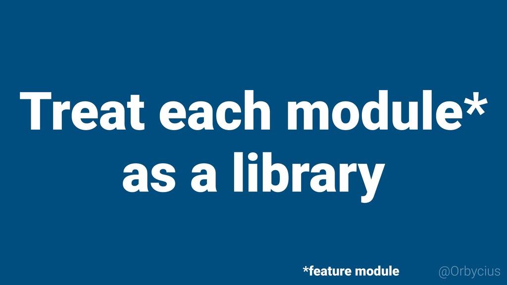 Treat each module* as a library @Orbycius *feat...