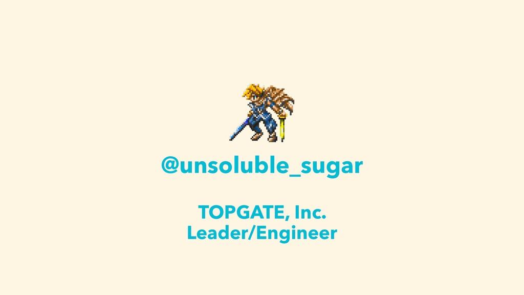 @unsoluble_sugar TOPGATE, Inc. Leader/Engineer