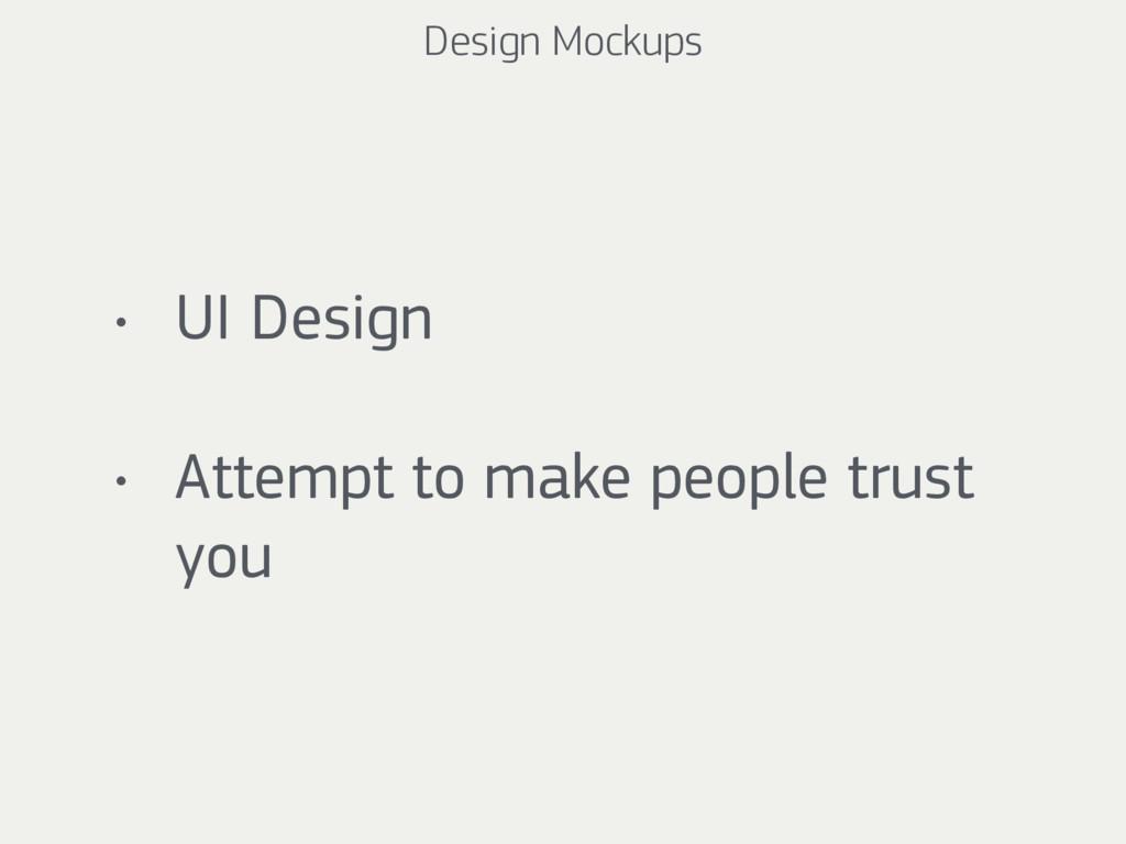 Design Mockups • UI Design • Attempt to make pe...