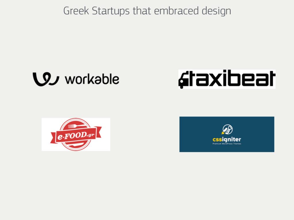 Greek Startups that embraced design