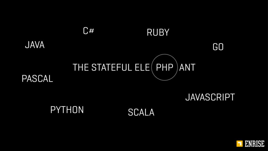 THE STATEFUL ELE ANT PHP C# RUBY PYTHON SCALA J...
