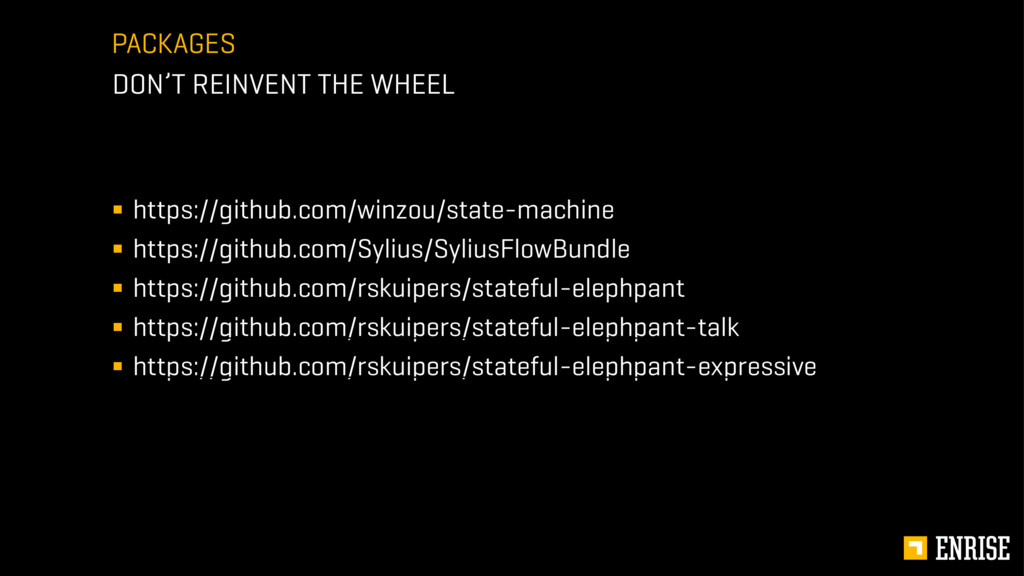 PACKAGES DON'T REINVENT THE WHEEL ! https://git...