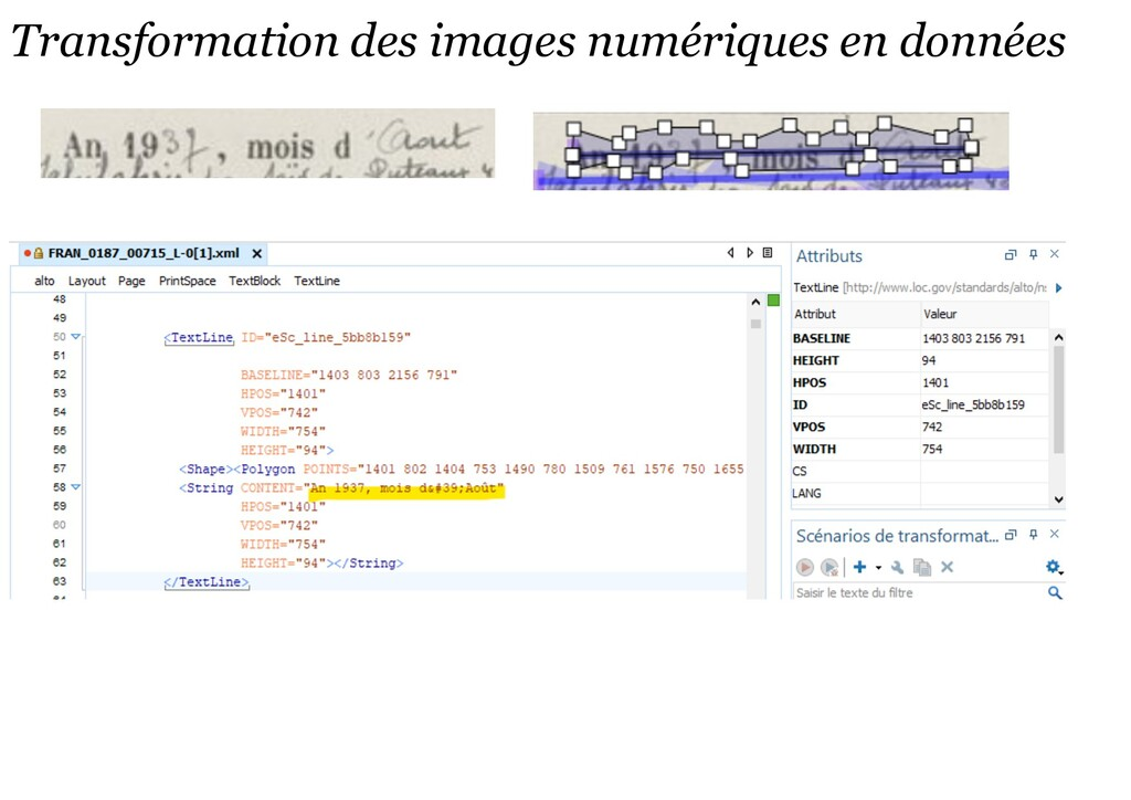 Transformation des images numériques en données