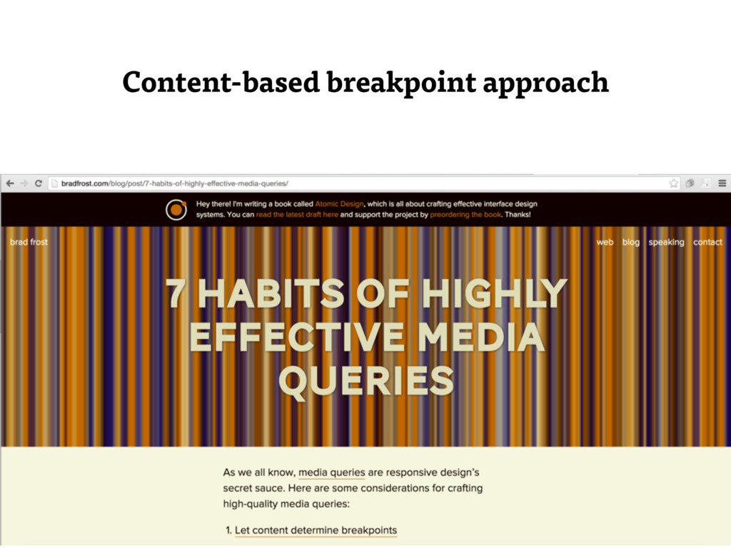 Content-based breakpoint approach