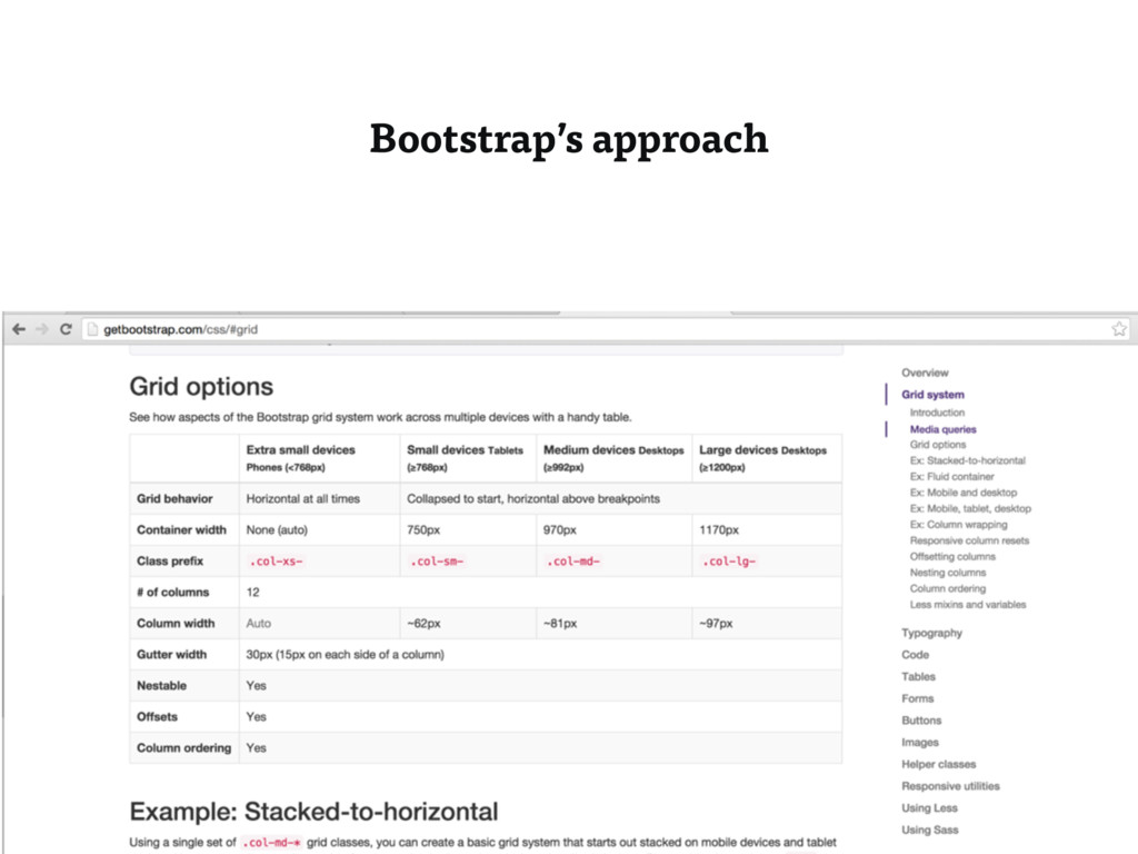 Bootstrap's approach