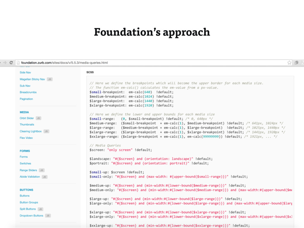 Foundation's approach