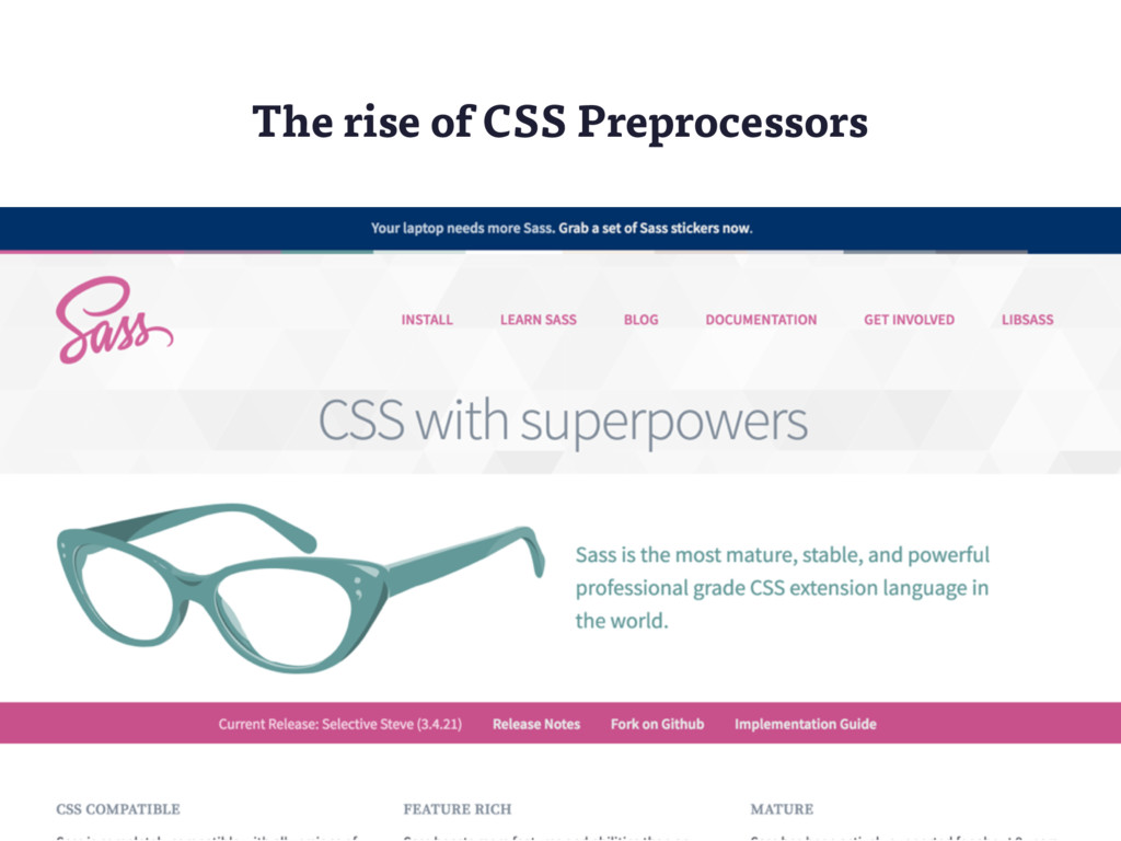 The rise of CSS Preprocessors