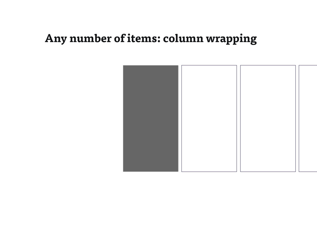 Any number of items: column wrapping