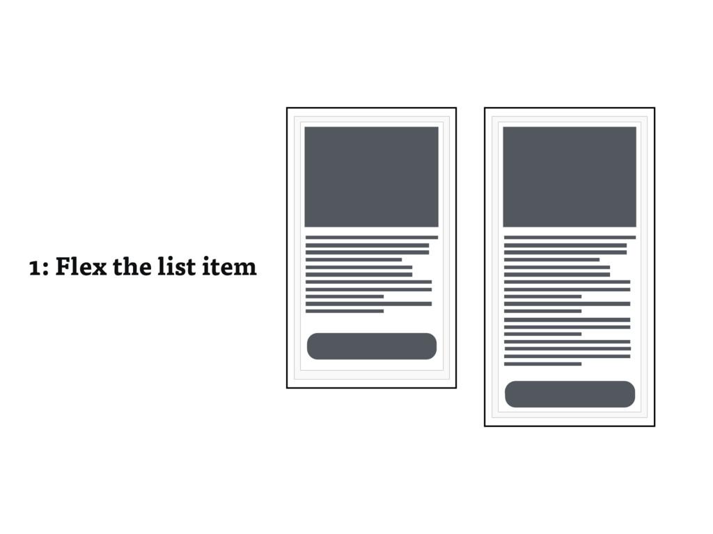 1: Flex the list item