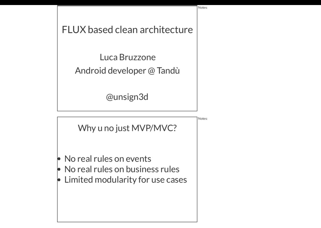 FLUX based clean architecture Luca Bruzzone @un...