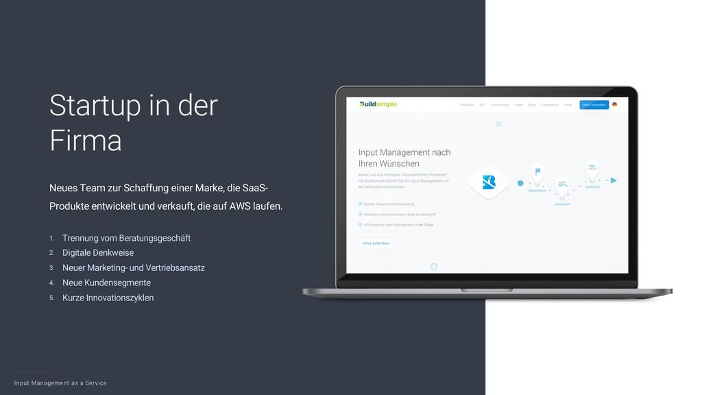 Input Management as a Service 3 Startup in der ...