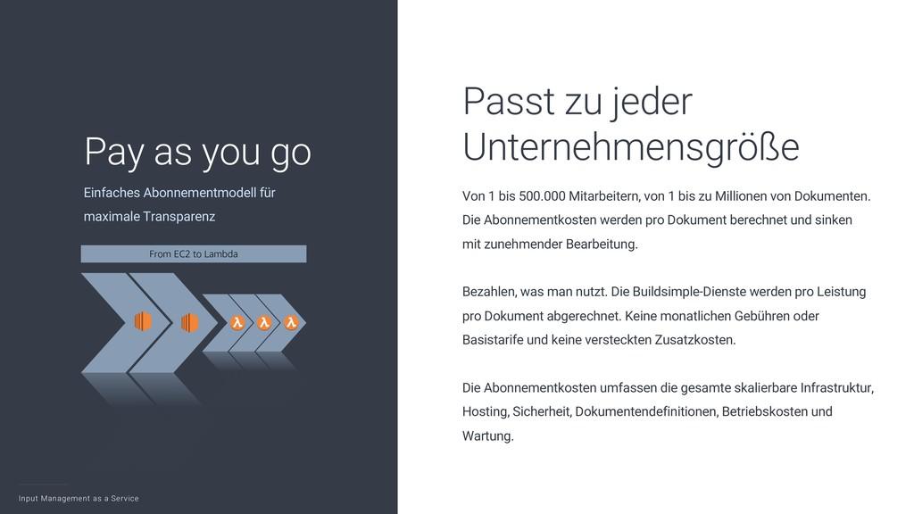 Input Management as a Service 5 Einfaches Abonn...