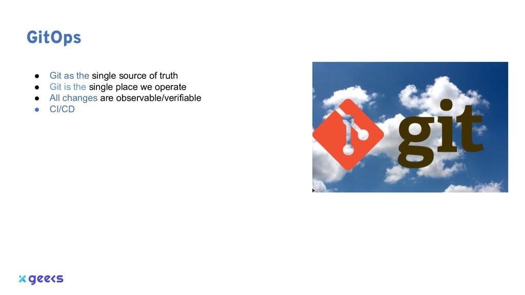 GitOps ● Git as the single source of truth ● Gi...