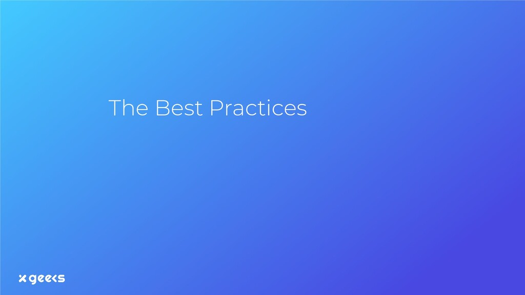 The Best Practices