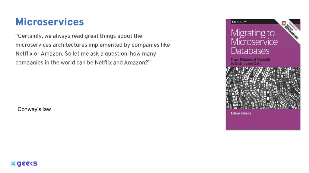 """Microservices """"Certainly, we always read great ..."""