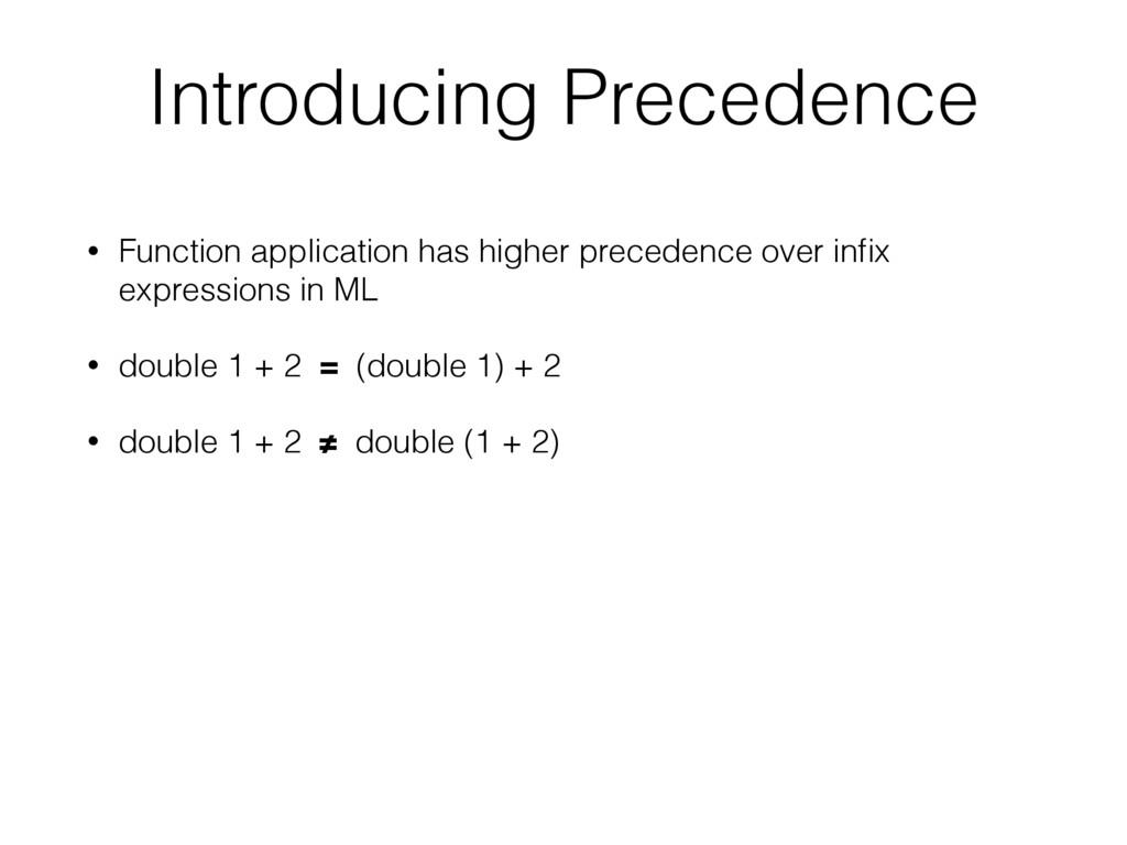 • Function application has higher precedence ov...