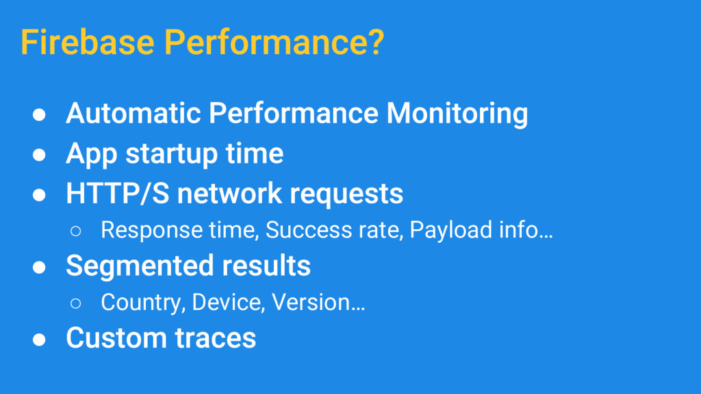 ● ● ● ○ Response time, Success rate, Payload in...