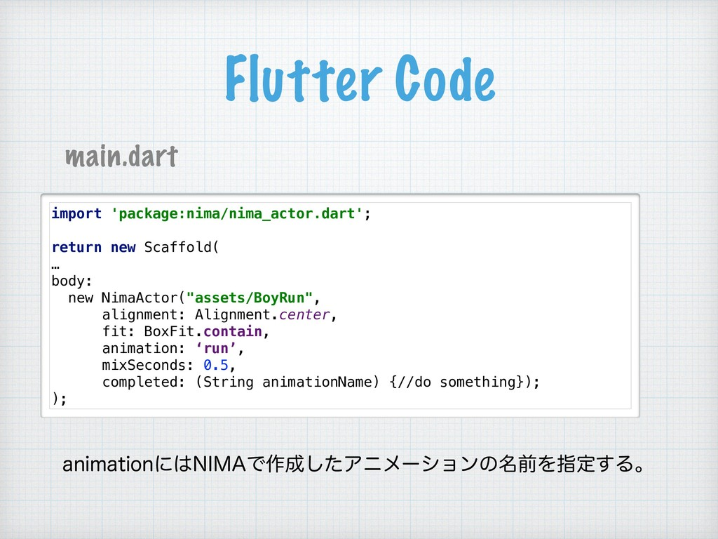 Flutter Code import 'package:nima/nima_actor.da...