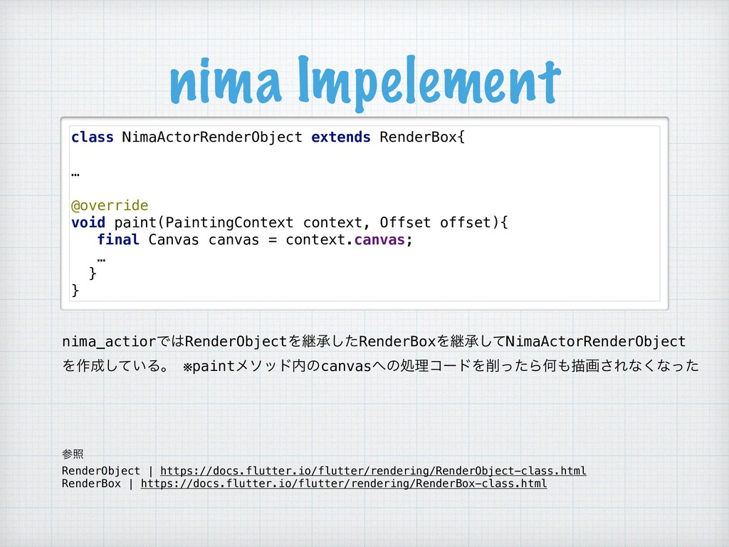 nima Impelement class NimaActorRenderObject ext...