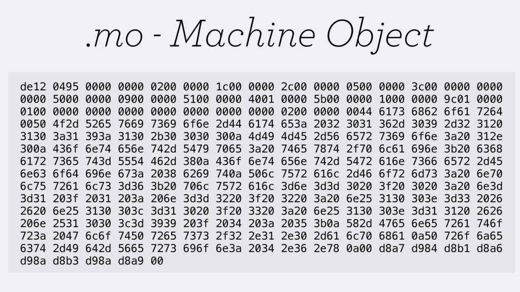 .mo - Machine Object de12 0495 0000 0000 0200 0...