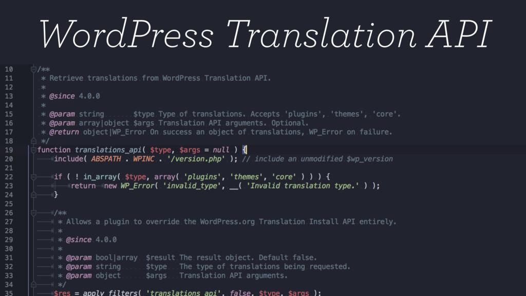 WordPress Translation API