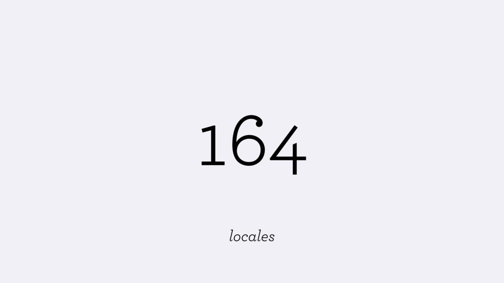 164 locales