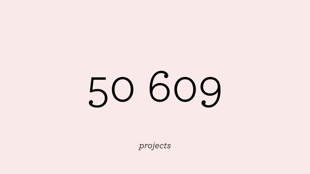 50 609 projects