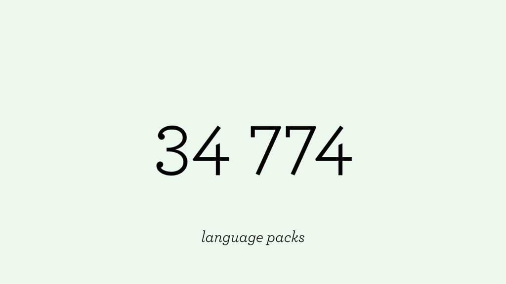 34 774 language packs