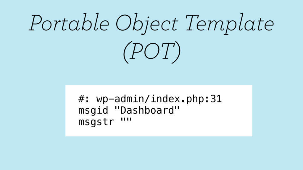 """#: wp-admin/index.php:31 msgid """"Dashboard"""" msgs..."""