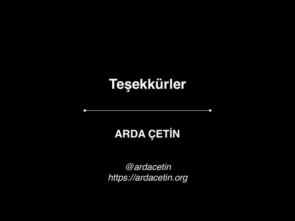 Teşekkürler ARDA ÇETİN @ardacetin https://ardac...