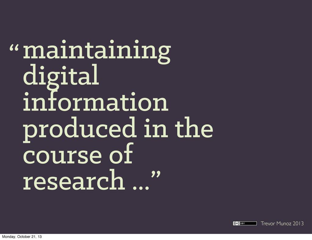 Trevor Munoz 2013 maintaining digital informati...