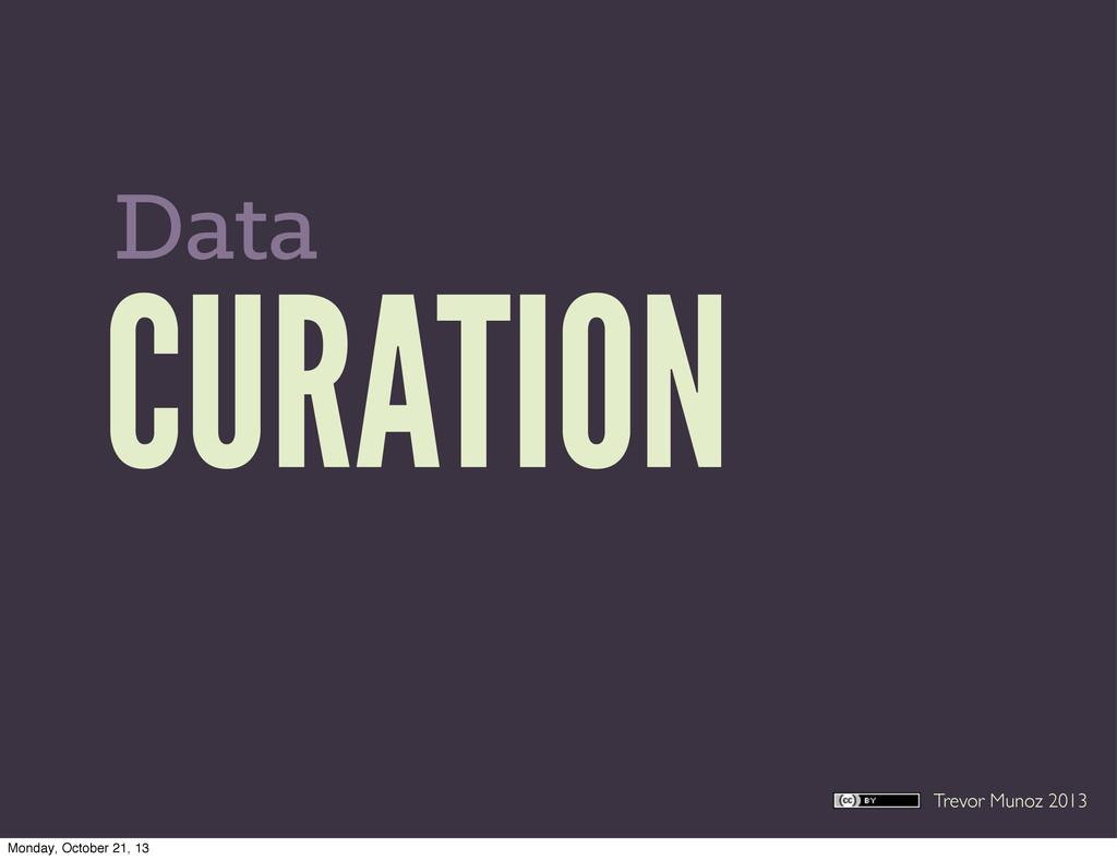 Trevor Munoz 2013 CURATION Data Monday, October...