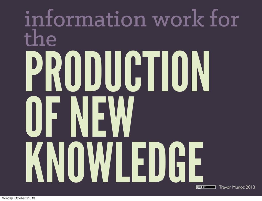 Trevor Munoz 2013 PRODUCTION OF NEW KNOWLEDGE i...