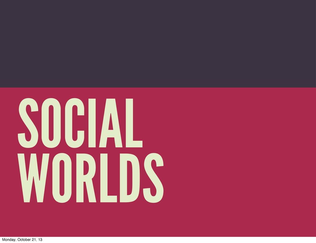 Trevor Munoz 2013 SOCIAL WORLDS Monday, October...