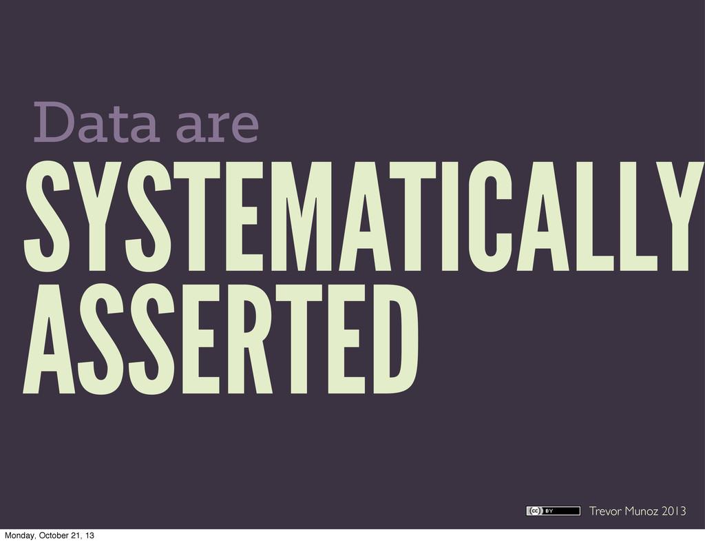 Trevor Munoz 2013 SYSTEMATICALLY ASSERTED Data ...