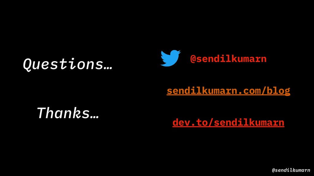 @sendilkumarn Thanks… @sendilkumarn dev.to/send...