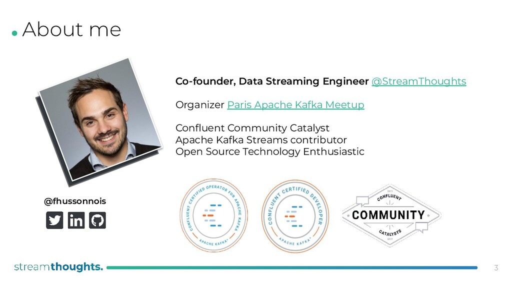 . Co-founder, Data Streaming Engineer @StreamTh...