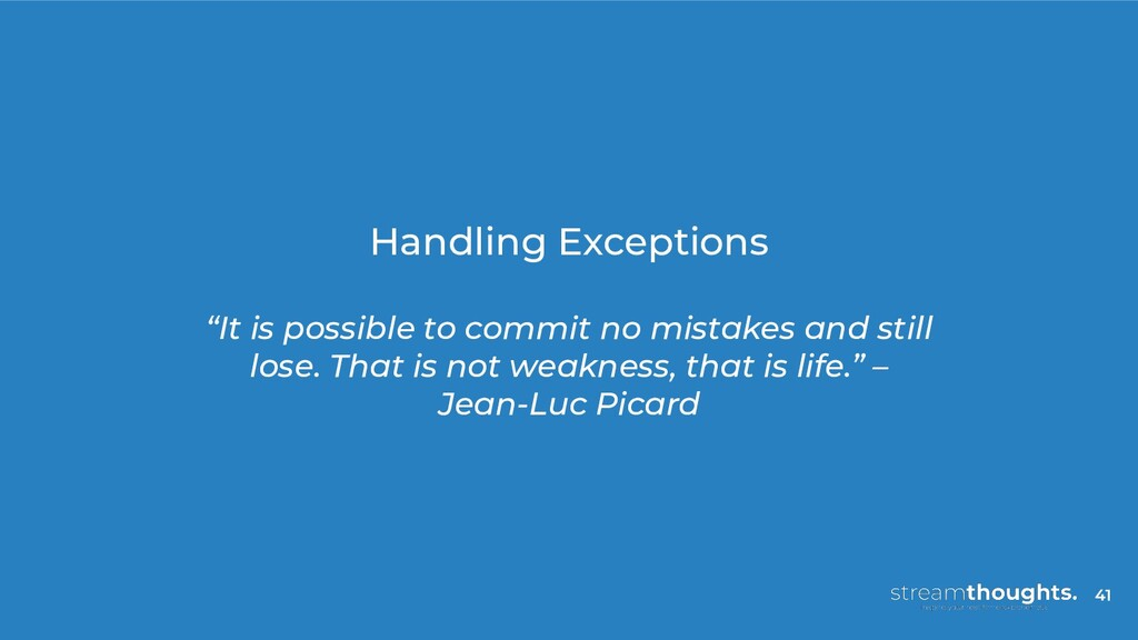 "Handling Exceptions ""It is possible to commit n..."