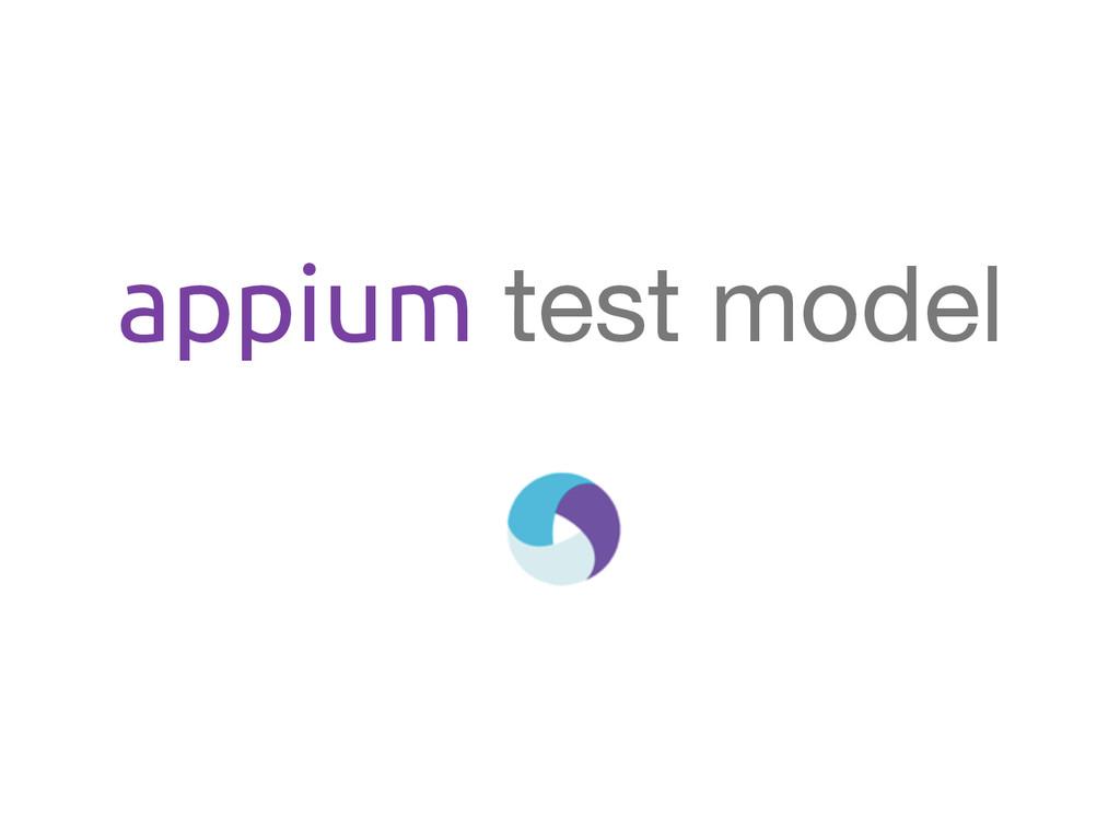 appium test model