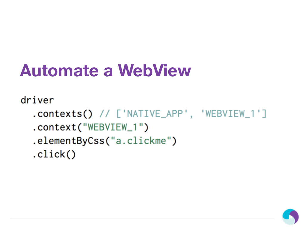 Automate a WebView
