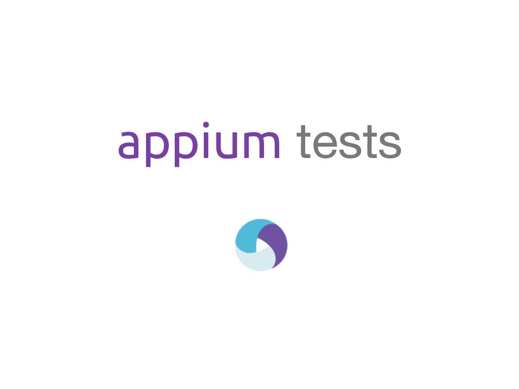 appium tests