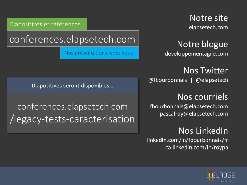 Notre site elapsetech.com Notre blogue developp...