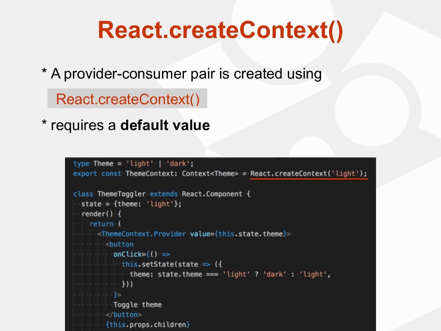 * A provider-consumer pair is created using * r...