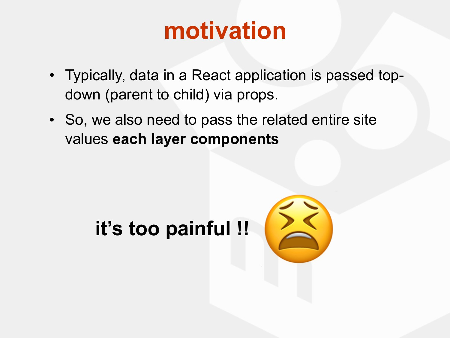 • Typically, data in a React application is pas...