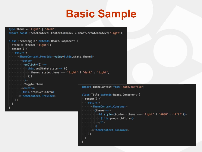 Basic Sample