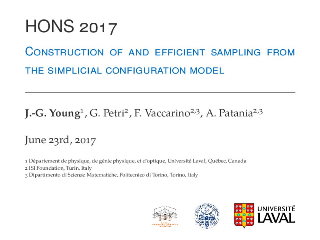 HONS C J.-G. Young , G. Petri , F. Vaccarino , ...