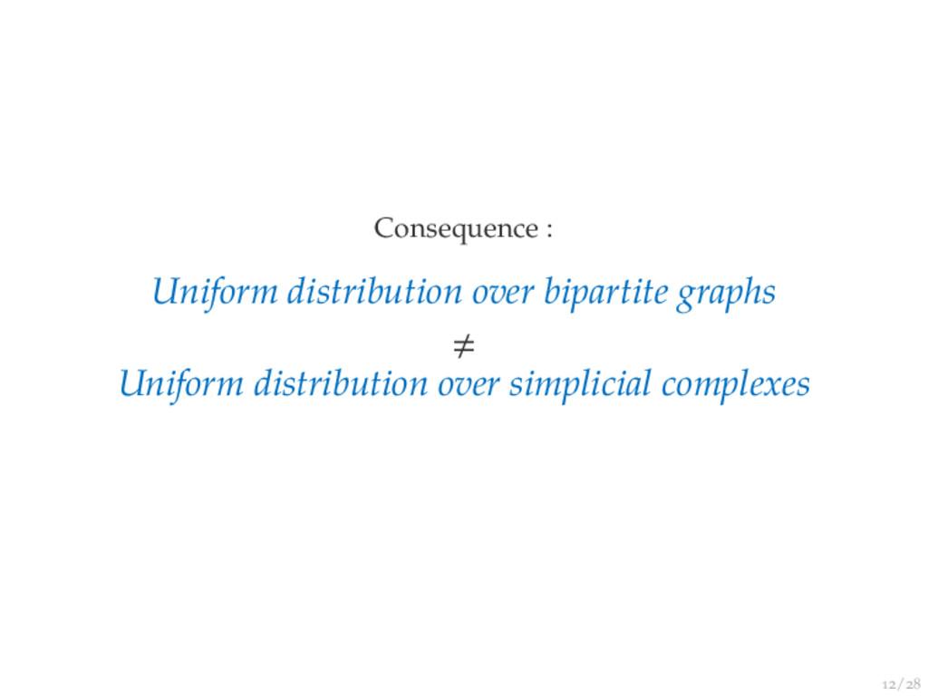 / Consequence : Uniform distribution over bipar...